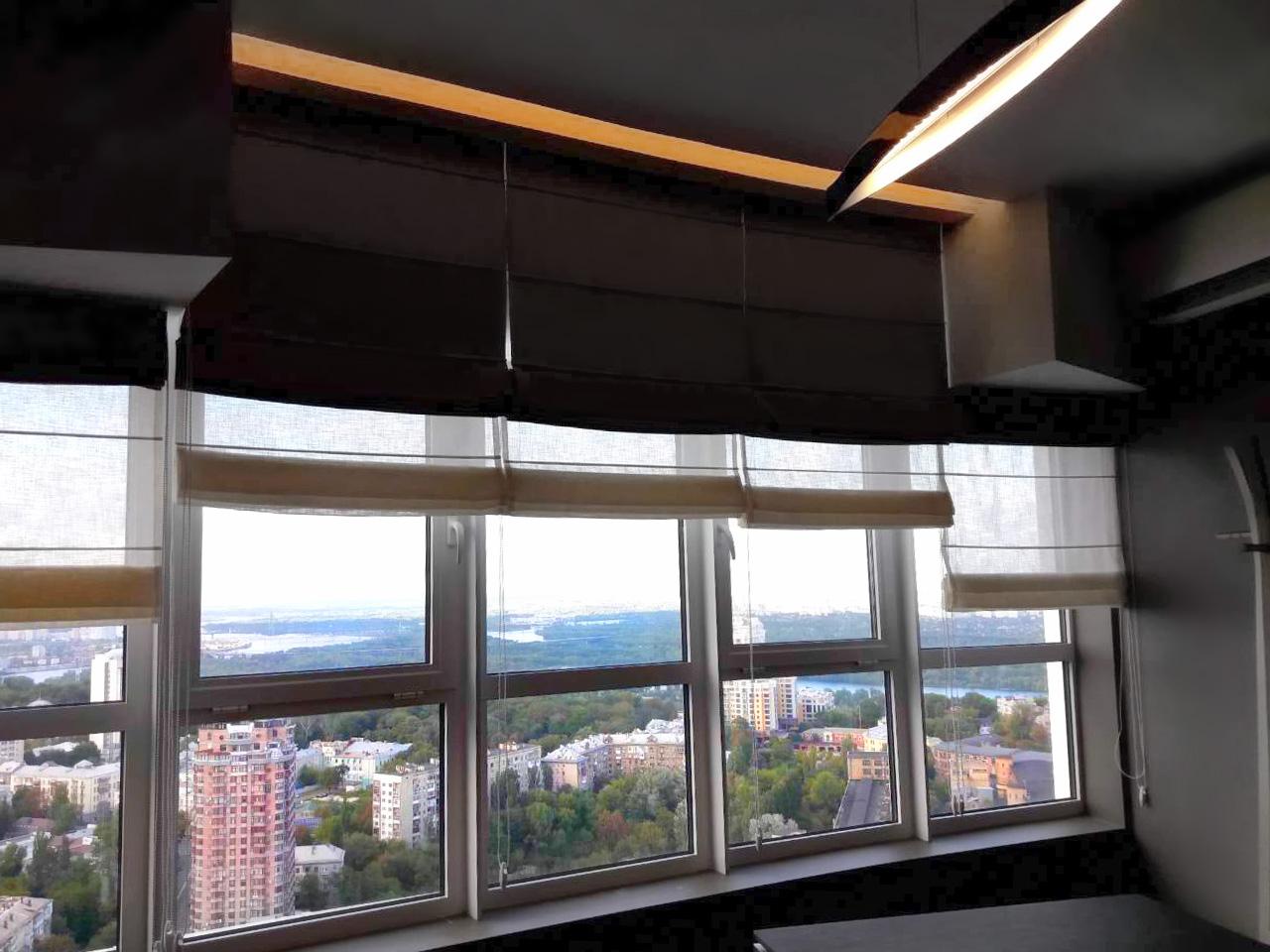 шторы для большой кухни