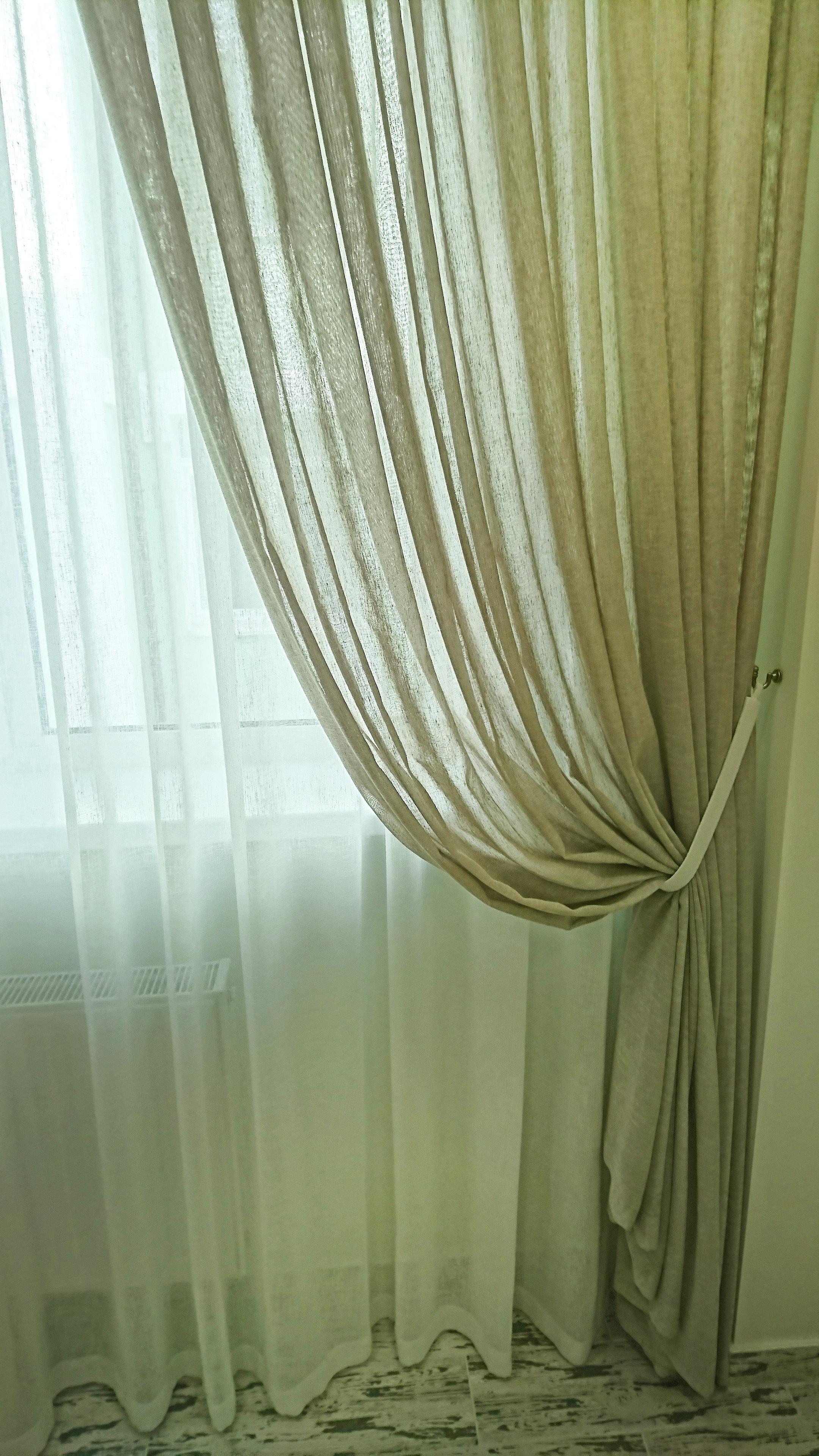 шторы с подхватом для кухни