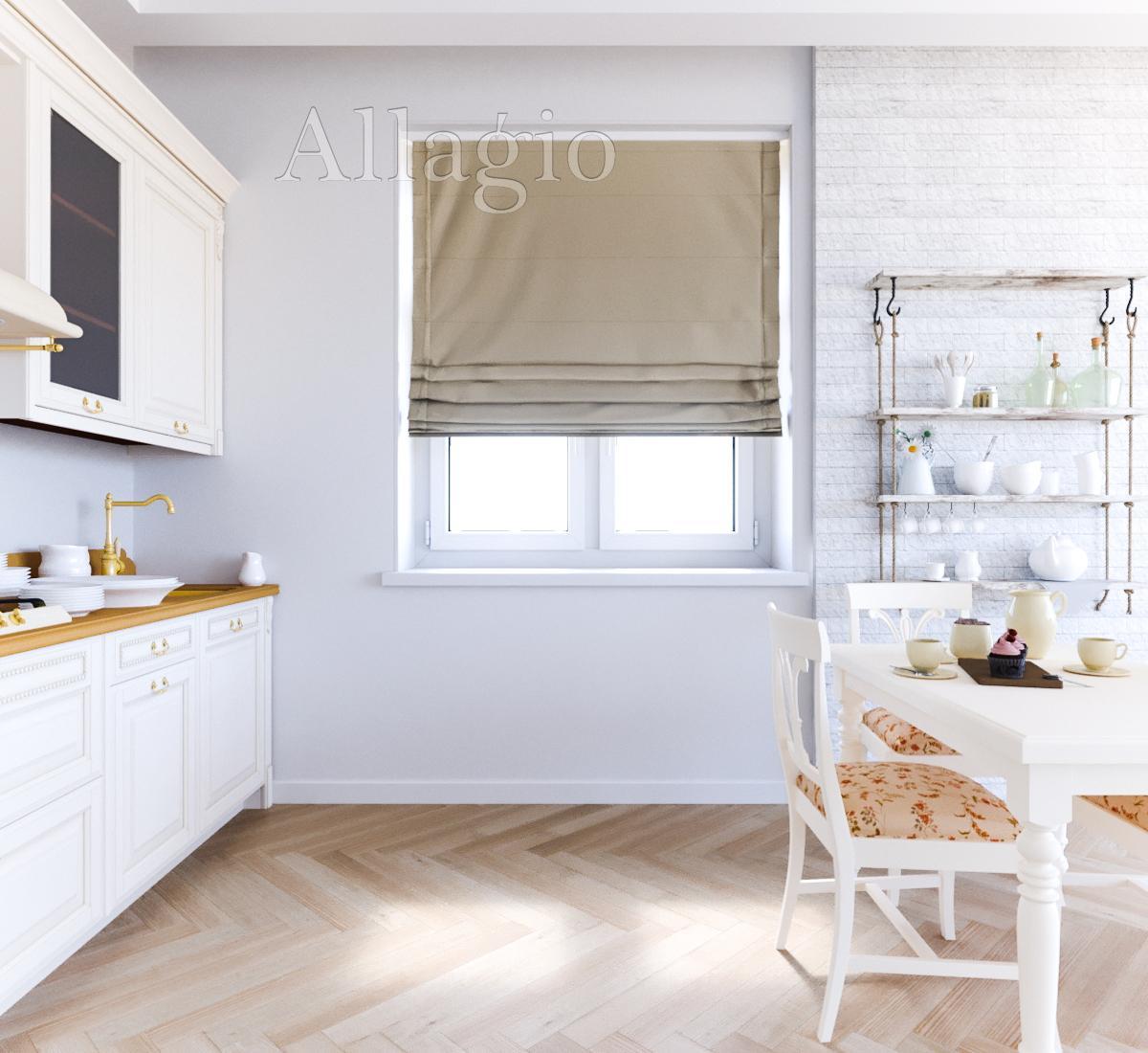 Римские шторы для кухин