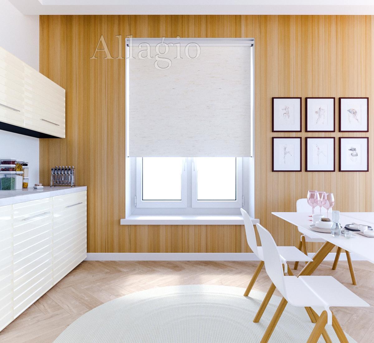 Светонепроницаемые рулонные шторы для кухни
