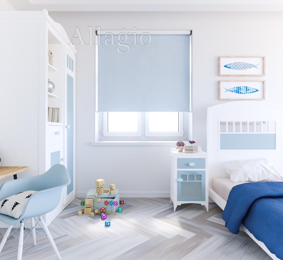 Рулонные шторы блэкаут для детской